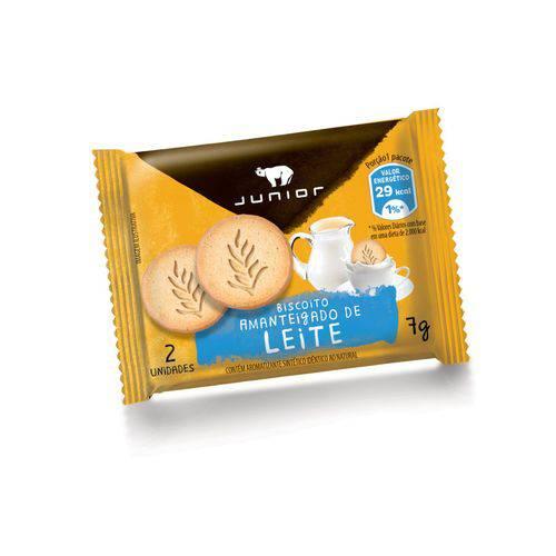 Biscoito Leite Junior Sachê 7g Caixa 100 Unidades