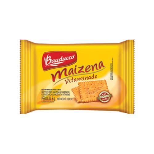 Biscoito Maizena Bauducco Sachê 8g Caixa 60 Unidades
