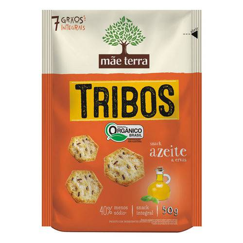 Biscoito Orgânico Tribos Sabor Azeite e Ervas Mãe Terra 50g