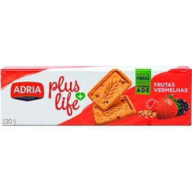 Biscoito Sabor Frutas Vermelhas Plus Life Adria 130g