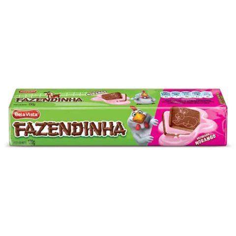 Biscoito Recheado Fazendinha Leite e Chocolate 130g - Bela Vista