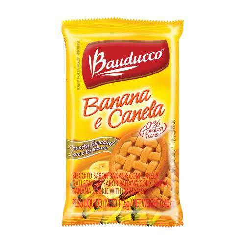Biscoito Rosquinha Banana Canela Sachê - Bauducco