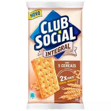 Biscoito Integral Sabor 5 Cereais Club Social 144g