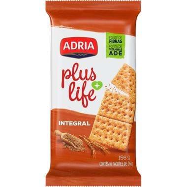 Biscoito Plus Life Integral Adria 156g