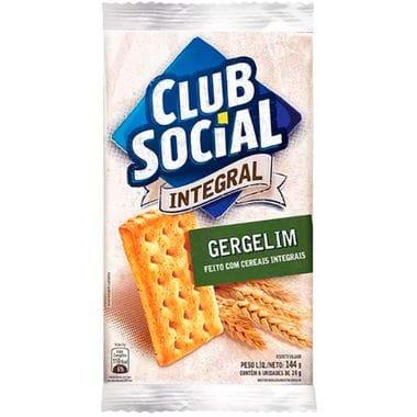 Biscoito Integral Sabor Cebolinha Club Social 144g
