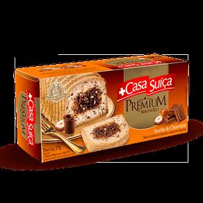 Bolo Casa Suíça Premium Avelãs e Chocolate 270g