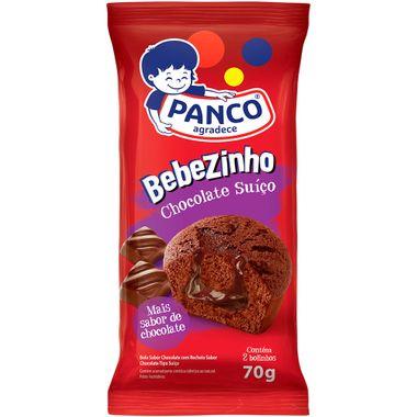Bolo Bebezinho Sabor Chocolate Suíço Panco 70g