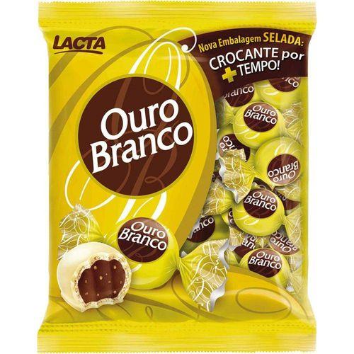Bombom Chocolate Ouro Branco Lacta Pacote-48 Unidades