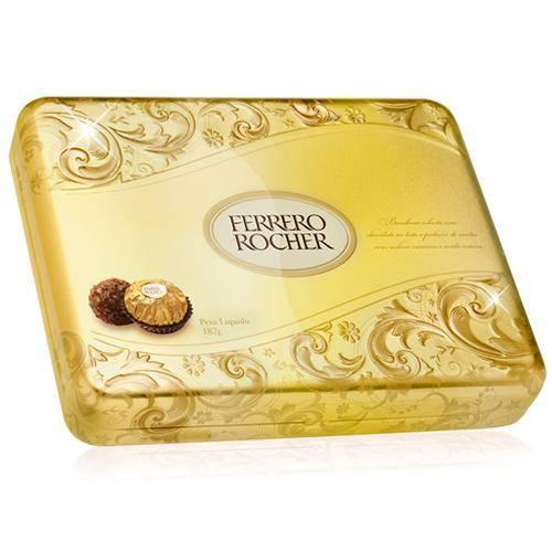 Bombom Ferrero Rocher Lata C/15 - Ferrero