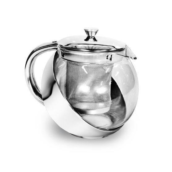 Bule para Chá em Vidro com Infusor Inox 400ml