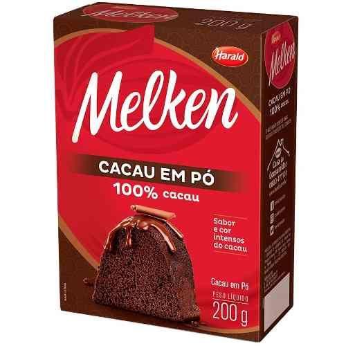 Cacau em Pó Melken 100% Cacau 200g