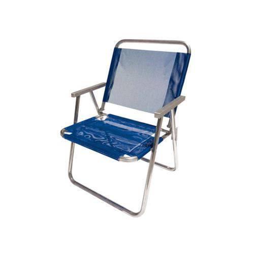 Cadeira de Praia em Alumínio Dobrável Azul - Botafogo