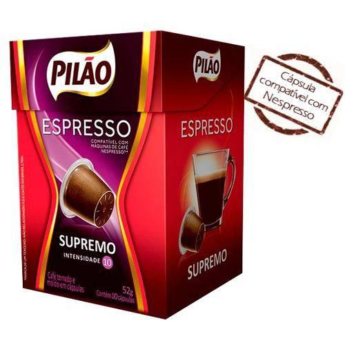 Cafe Capsula Espresso Pilao Supremo 10x52g