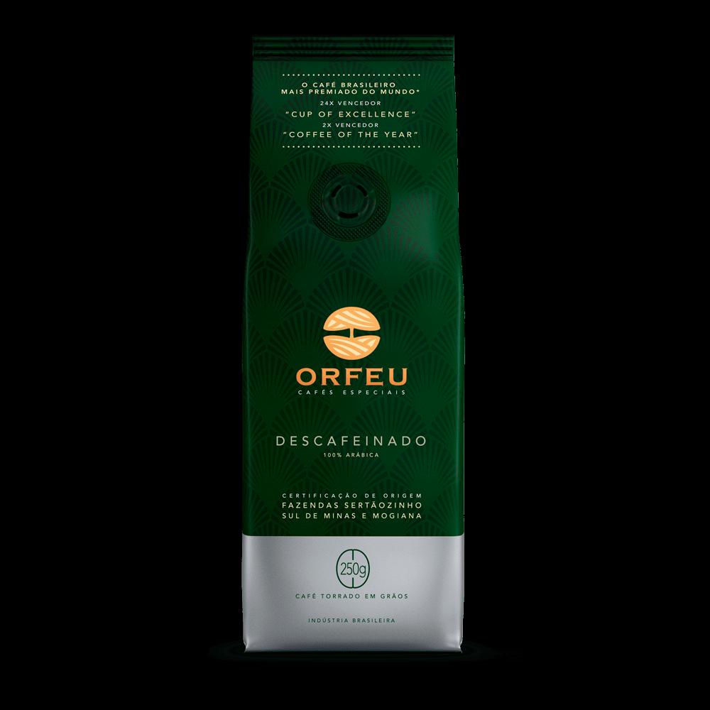 Café Orfeu - Descafeinado Torrado em Grãos   250g 000505