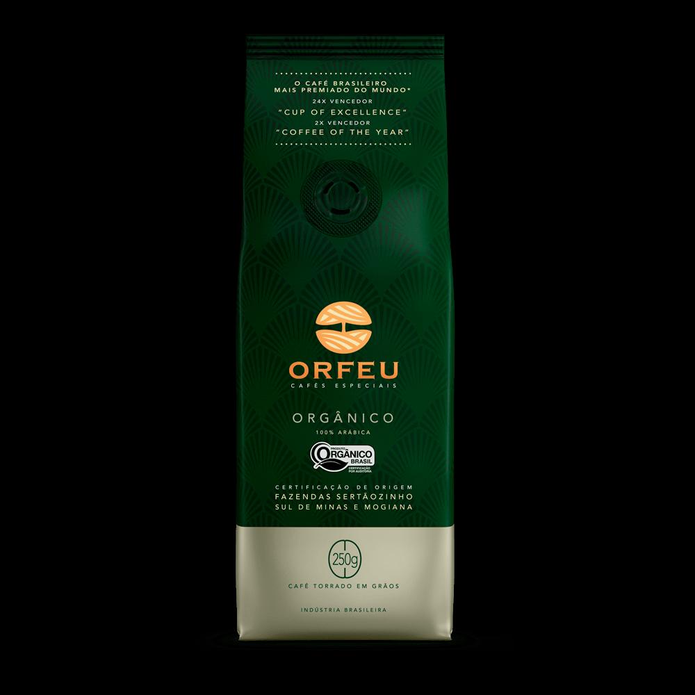 Café Orfeu - Orgânico Torrado em Grãos   250g 000506