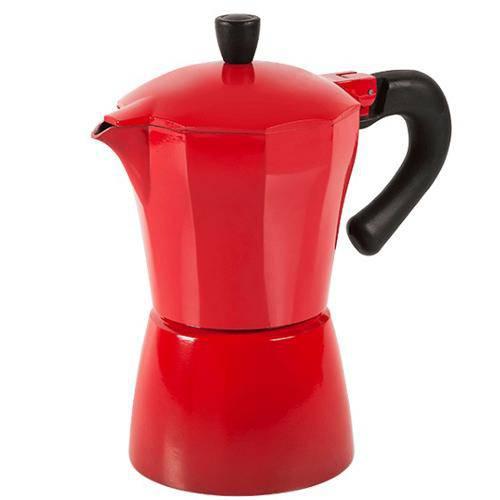 Cafeteira Verona 300ml Alumínio Vermelha 2190/120 - Brinox