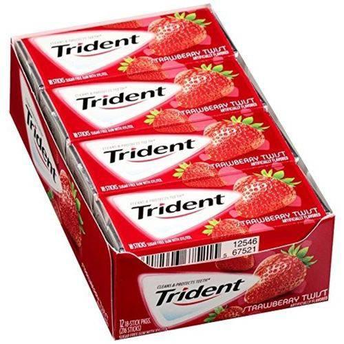 Caixa 12 Trident Strawberry Twist - Sabor Morango