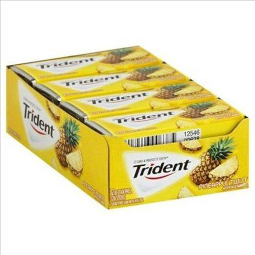 Caixa Chiclete Trident Abacaxi 12 Unid 26,6g