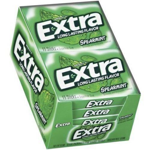Caixa Chiclete Wringley's Extra Spearmint - Sabor Menta