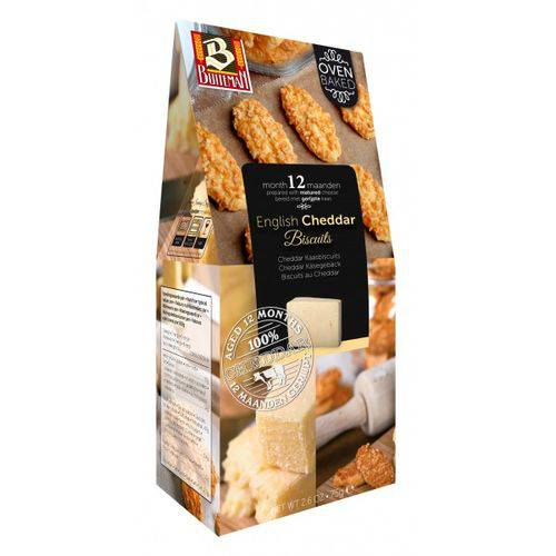 2 Caixa de Biscoito de Queijo Cheddar 75g - Buiteman