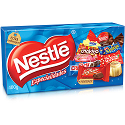 Caixa de Bombom Especialidades 400g - Nestlé