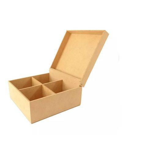 Caixa de Chá com 4 Divisórias em MDF