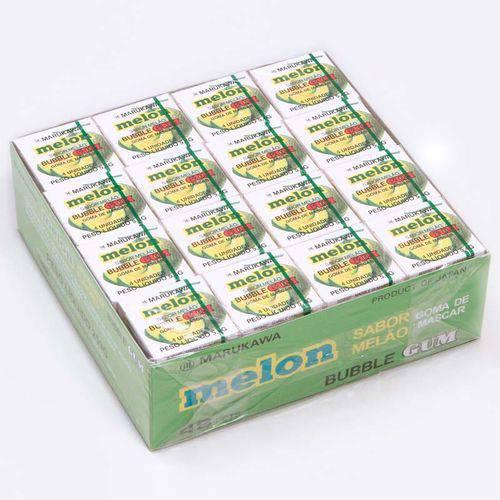 Caixa de Chicletes Sabor Melão com 48 Unidades - Marukawa