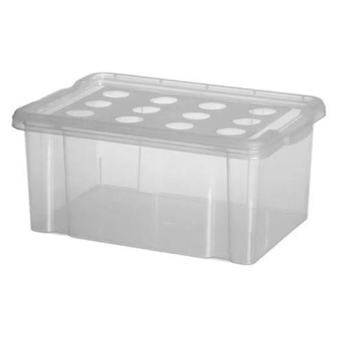 Caixa Organizadora Container 16 Litros com Tampa Transparente 425-10 Niquelart