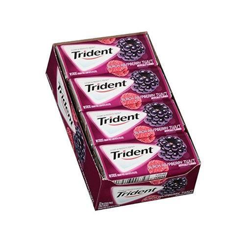 Caixa Trident Black Raspberry Twist - Sabor Amora C/ Framboesa