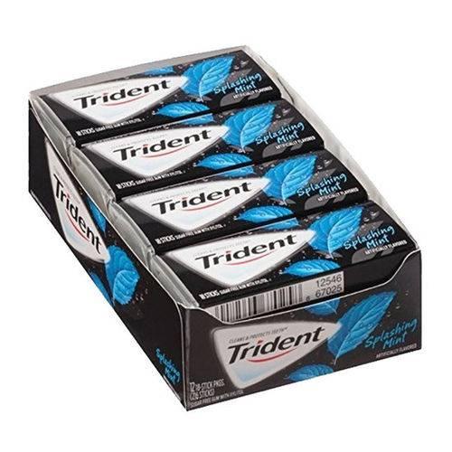 Caixa Trident Splashing Mint - Menta C/ Bolinhas que Estouram