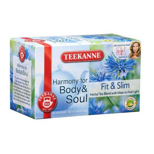 2 Caixas de Chá de Ervas Fit And Slim (20 Saquinhos) 40g - Teekanne