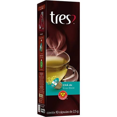 Cápsula de Chá de Erva Doce Tres - 10 Cápsulas