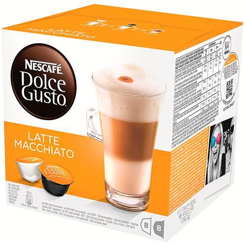 Cápsula Nescafé Dolce Gusto Latte Macchiato 16 Unidades (8 Leite + 8 Café) - Nestlé