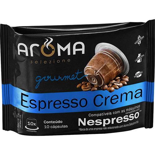 Cápsulas de Café Crema Espresso Aroma Selezione Compatível Nespresso - 10 Unidades