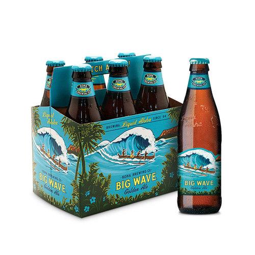 Cerveja Kona Big Wave Golden Ale Long Neck 355ml Caixa (6 Unidades)
