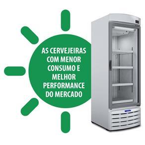 Cervejeira / Expositor Vertical Porta de Vidro VN50RB Metalfrio - 572 Litros - 220V