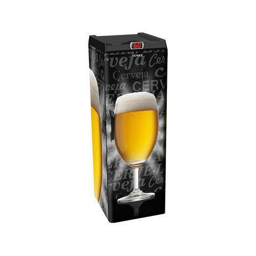 Cervejeira Venax Expm 200L Copo Taça Preta 220V