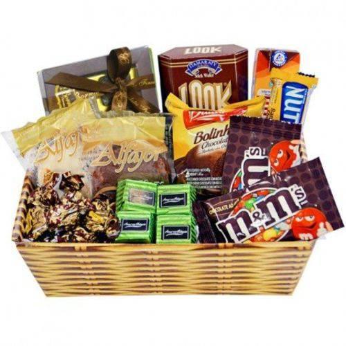 Cesta de Páscoa com Chocolates Finos - em Oferta - Cestas Catelândia