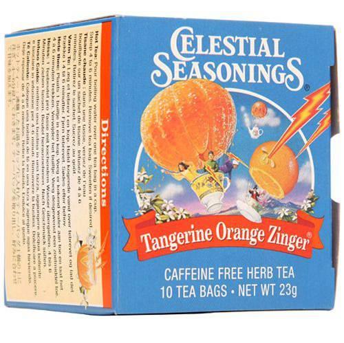 Chá Celestial Seasonings Tangerine Orange Zinger - Aurora