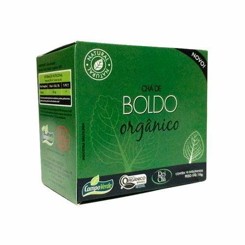 Chá de Boldo Orgânica - Campo Verde - 10 Sachês de 1g