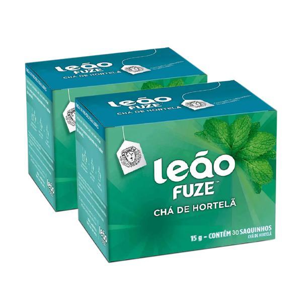 Chá de Hortelã Leão Fuze Caixa com 30 Sachês 15g C/2cx