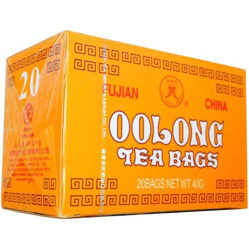 Chá Fujian Oolong Chinês. Importado 20 Sachês.