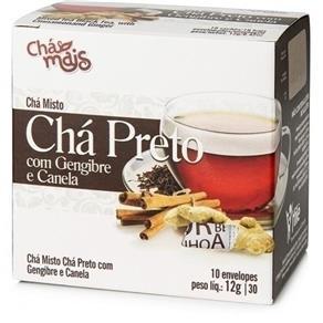 Chá Preto, Gengibre e Canela, 10 Sachês - Chá Mais - 10 Sachês - Preto