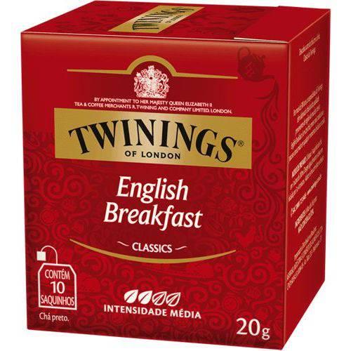 Chá Twinings Of London Chá Preto English Breakfast Caixa com 10 Sachês