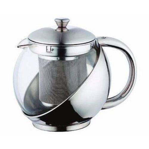 Chaleira com Infusor de Chá 900ml em Vidro e Aço Bule
