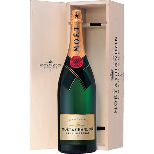 Champagne Moët & Chandon BrutImpérial 3000ml Jeroboamcom Caixa de Madeira
