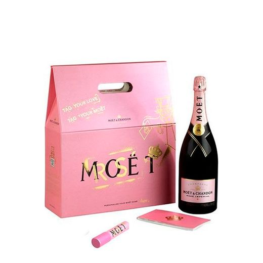Champanhe Moet Imperial Rose Tag Your Love 1,5L