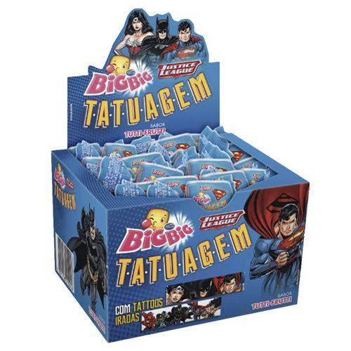 Chicle Big Big Tatuagem Liga da Justiça