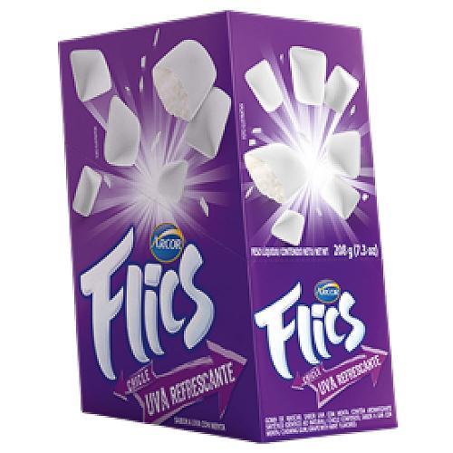 Chiclete Flics Uva C/12 - Arcor