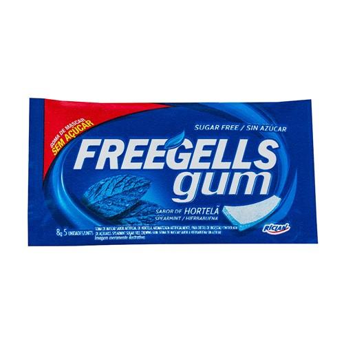 Chiclete Freegells Gum Hortelã Sem Açúcar Chiclete Freegells Gum Hortelâ Sem Açúcar com 8g